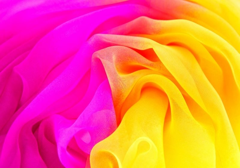 Texture chiffon fabric pink and yellow color for backgrounds-types of fabric-canva