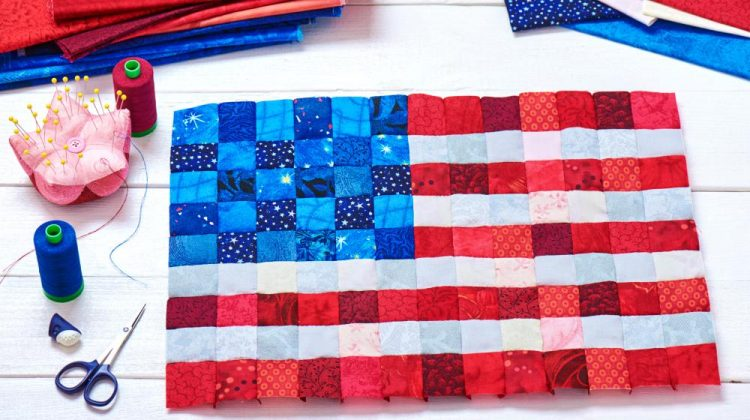 Flag craft | Patriotic sewing projects | Memorial Day Crafts You Can Make To Show Your Patriotism | Sewing.com | Featured