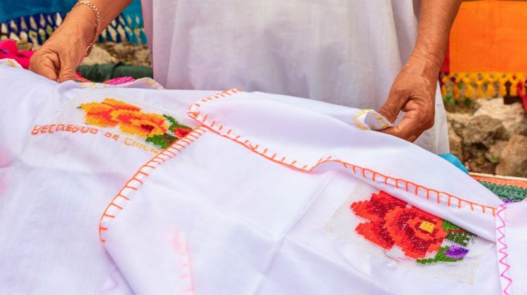 Portrait of a Mayan woman in Yucatan Tailor specializing in embroidery clothing | Cinco de Mayo Crafts You Can Sew For Your Own Fiesta At Home | mexican fiesta clothes | Featured