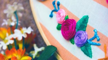 Stitch Flowers | Handkerchief embroidery kit |Dainty Embroidered Handkerchief Designs | Sewing.com | Featured