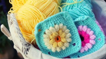 colorful crochet coasters and colored yarn | Free Creative Patterns For Crochet Coasters To Keep You Busy | Featured