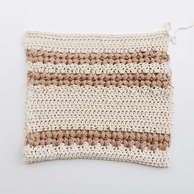 white and brown knit textile | Crochet Washcloth Patterns And Designs To Make Over The Weekend | crochet dishcloth