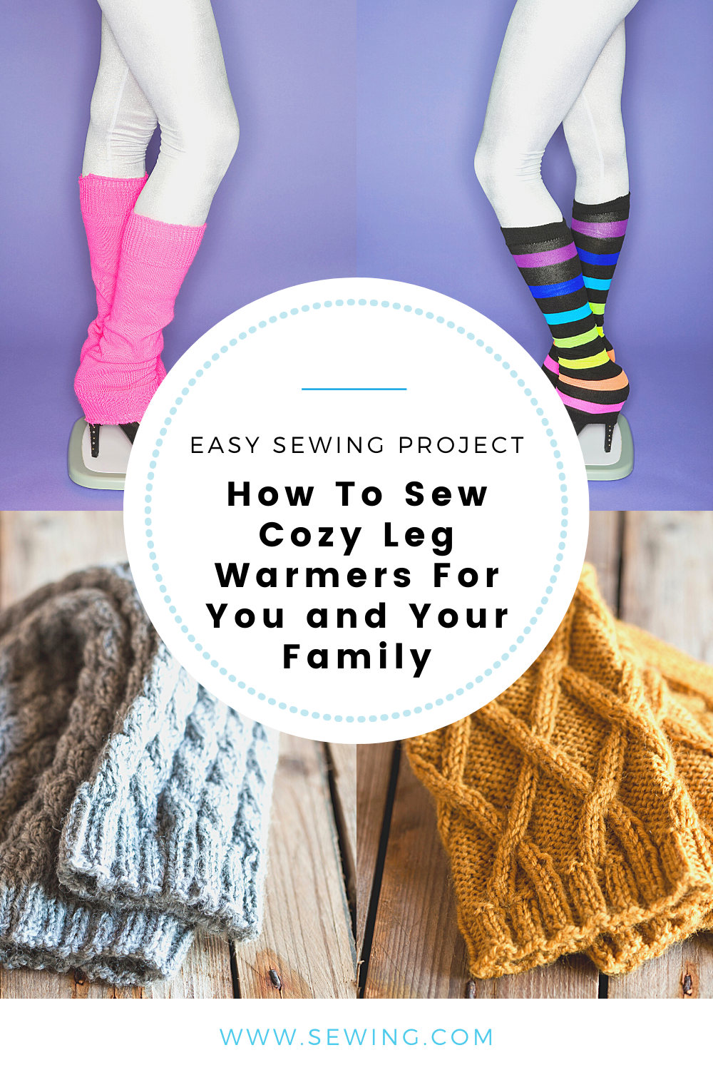 placard | How To Sew Cozy Leg Warmers For You and Your Family