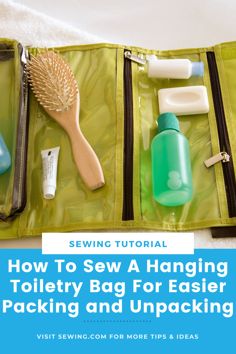placard | How To Sew A Hanging Toiletry Bag For Easier Packing and Unpacking