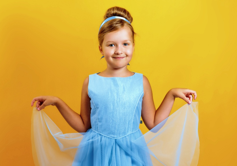 charming little girl costume princess cinderella | mccall's halloween costume patterns