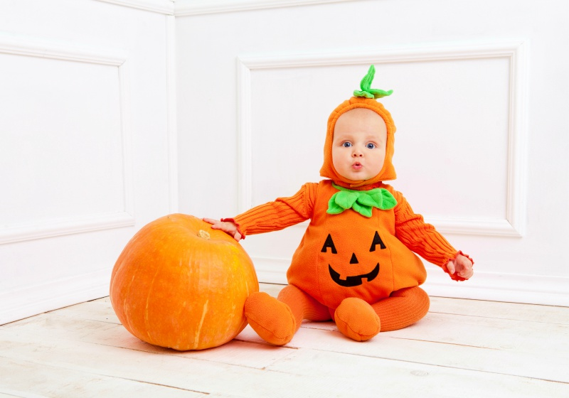 child pumpkin suit on white background | baby halloween costume patterns mccall's