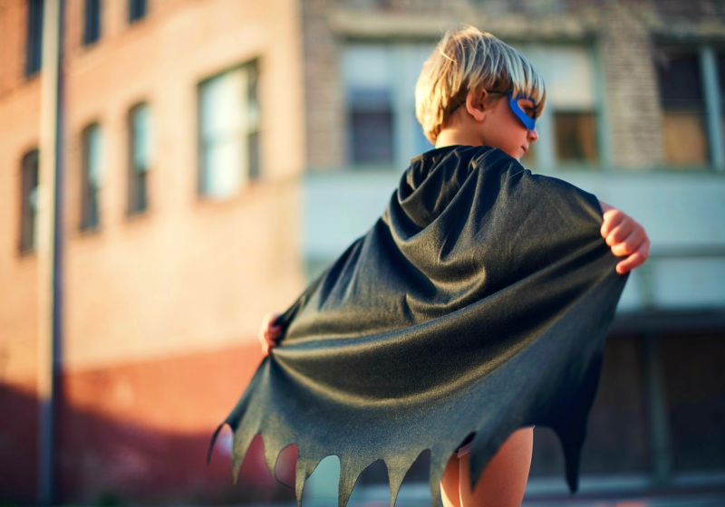 selective focus photography of boy wearing black Batman cape | cosplay costume patterns
